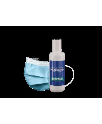 Covid-19 Schutzpaket | OP-Masken Typ IIR & 300 ml Desinfektionsmittel