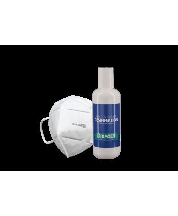 Covid-19 Schutzpaket | FFP2 Masken & 300 ml Desinfektionsmittel